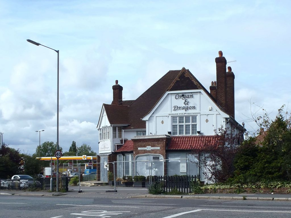Transport Planning Consultancy London - image of organ and dragon pub