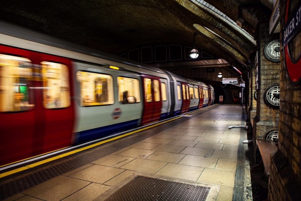 Transport Planning Consultancy London -image of tube train in station