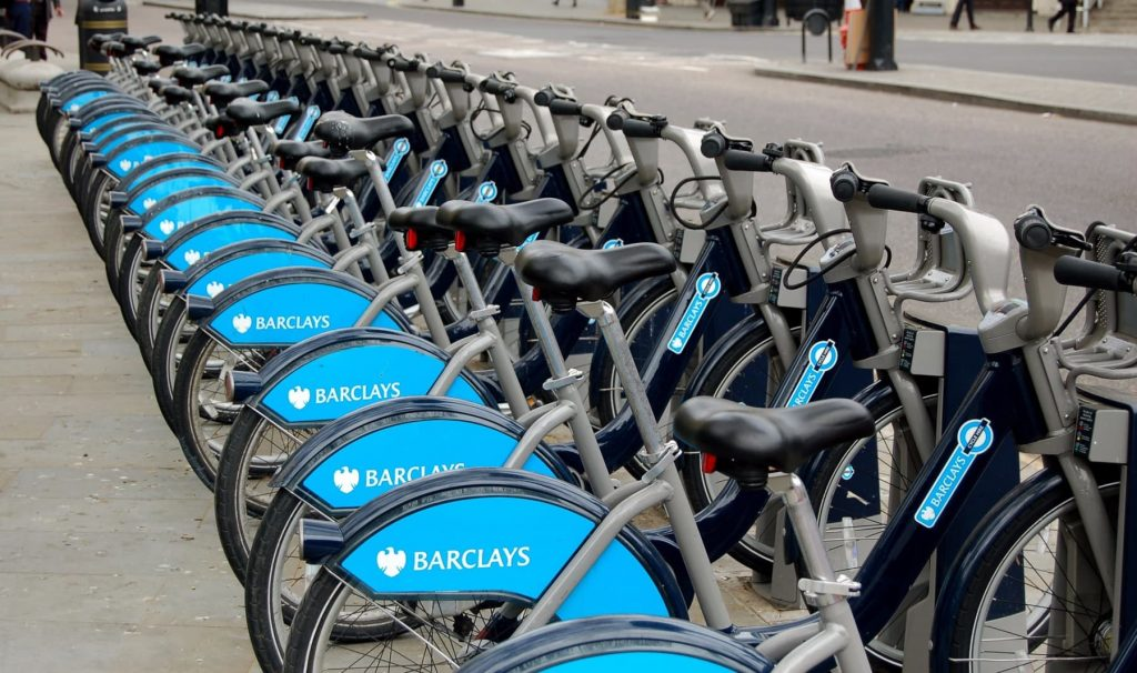 Transport Planning Consultancy London -row of bikes to hire